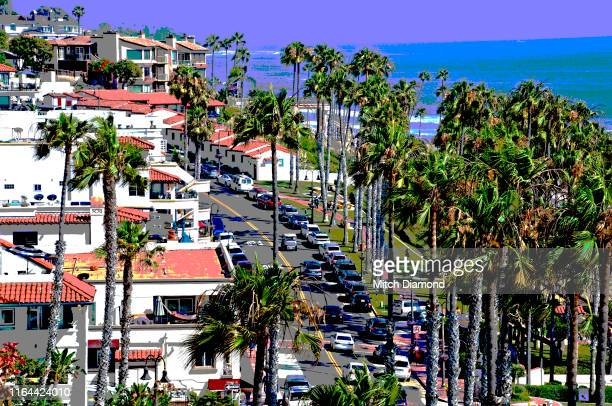 san clemente beach town - san clemente california stock pictures, royalty-free photos & images