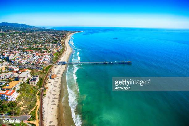 san clemente california aerial view - san clemente california stock pictures, royalty-free photos & images