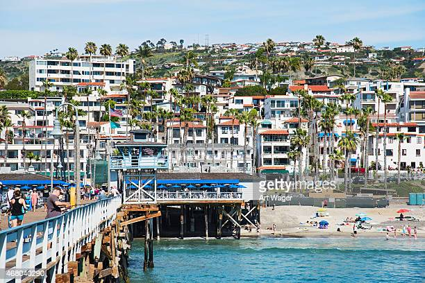 san clemente california view from the pier - san clemente california stock pictures, royalty-free photos & images