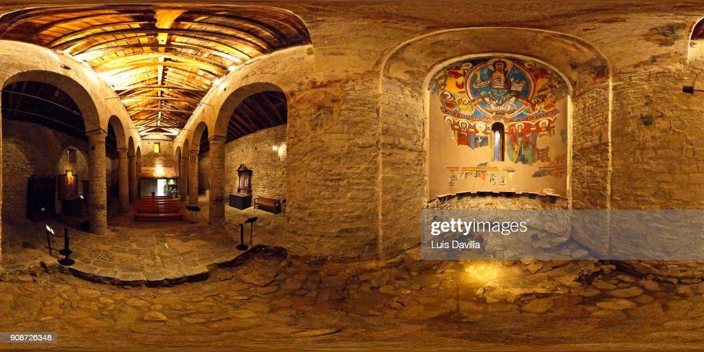 San Clemente De Taull Church Vall De Boi Lleida Spain Stock Photo