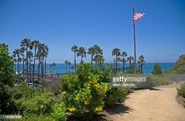 san clemente pier - san clemente california stock pictures, royalty-free photos & images
