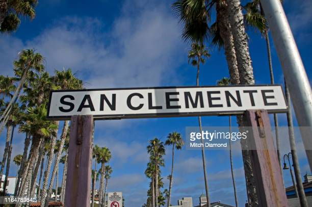 san clemente sign - san clemente california stock pictures, royalty-free photos & images