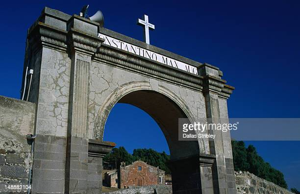 San Constantino Church through the Arch of San Constantino (venue of the S'Ardia festival).
