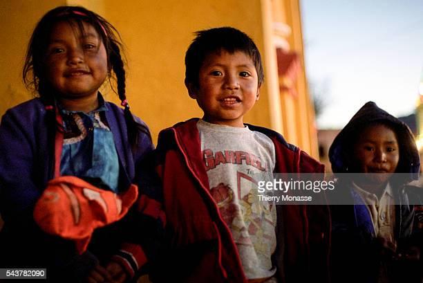 San Cristóbal de Las Casas Chiapas United Mexican States january 2005 Childs are playing in San Cristobal de Las Casas
