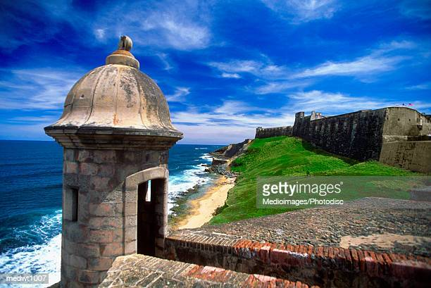 san cristobal fort, san juan, puerto rico - san juan stock pictures, royalty-free photos & images