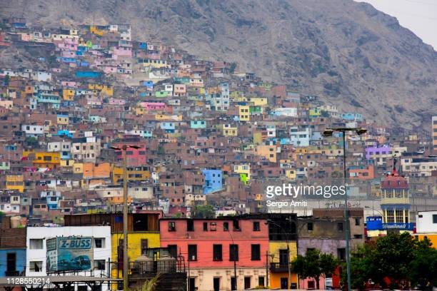 san cristobal hill in lima - lima peru stock pictures, royalty-free photos & images