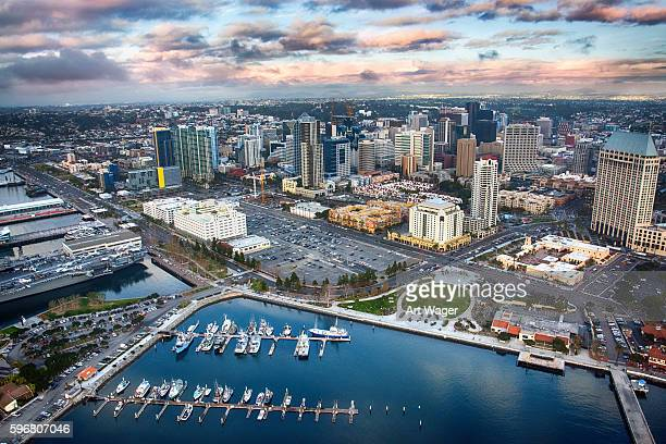 San Diego Aerial View of Downtown and the Bay
