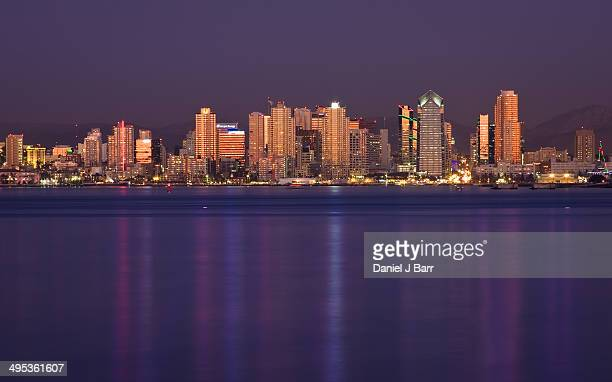 san diego at dusk - barr stock pictures, royalty-free photos & images