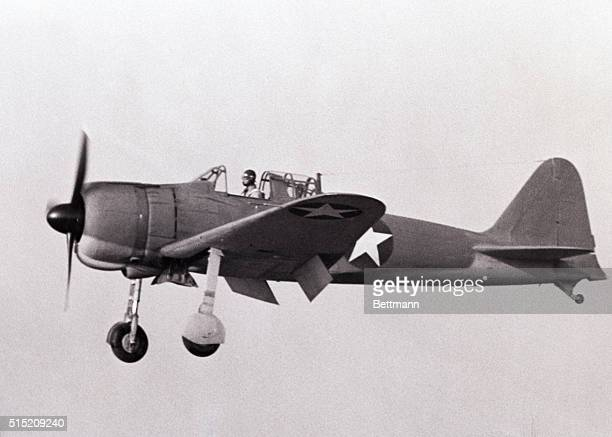 San Diego CA With the white star of the American Air Force replacing the red disk of Japan this captured Zero fighter plane is being put through its...