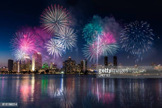 san diego - california - firework display stock pictures, royalty-free photos & images
