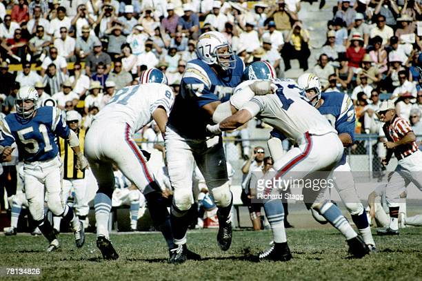 San Diego Chargers defensive tackle Ernie Ladd during a 3114 win over the Houston Oilers on October 3 1965 at San Diego Stadium in San Diego...