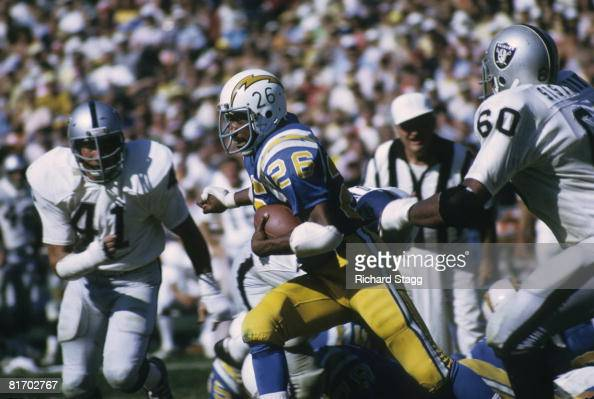 San Diego Chargers Running Back Clint Jones On A Carry In