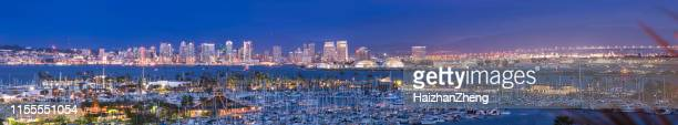san diego cityscape sunset - san diego stock pictures, royalty-free photos & images