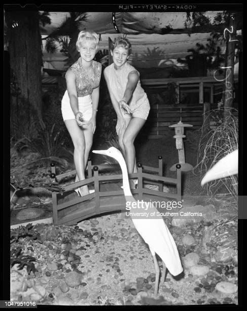 San Diego Fair, 23 June 1960. Charlene McCoy -- 17 years;Walter Anderson -- 19;Dolores Seabolt;Patty Manos -- 17;Marilyn Miller;Lougene Porter -- 20...