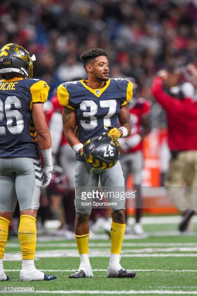 San Diego Fleet cornerback Kendall James looks over during the AAF game between the San Diego Fleet and the San Antonio Commanders on February 9 2019...