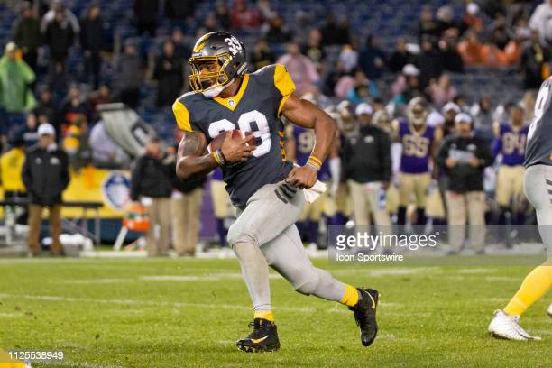 San Diego Fleet running back Terrell Watson during the game between the Atlanta Legends and the San Diego Fleet on February 17 2019 at SDCCU Stadium...