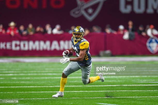 San Diego Fleet wide receiver Brian Brown runs the ball during the AAF game between the San Diego Fleet and the San Antonio Commanders on February 9...
