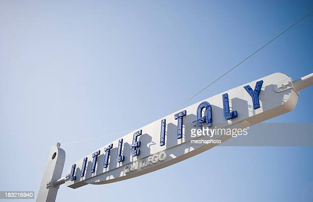 San Diego Little Italy Sign