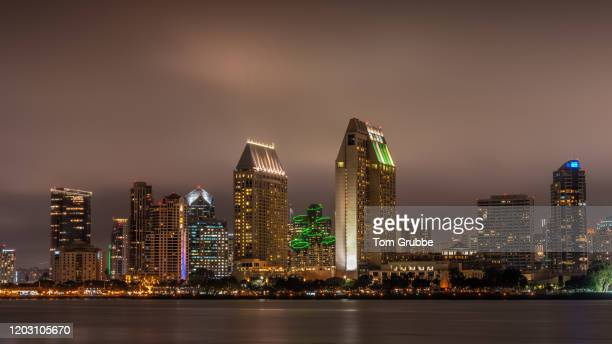 san diego nightscape ii - tom grubbe stock pictures, royalty-free photos & images