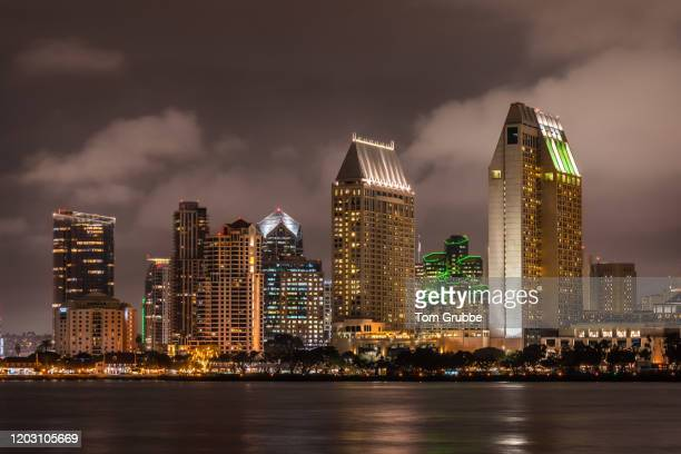 san diego nightscape - tom grubbe stock pictures, royalty-free photos & images