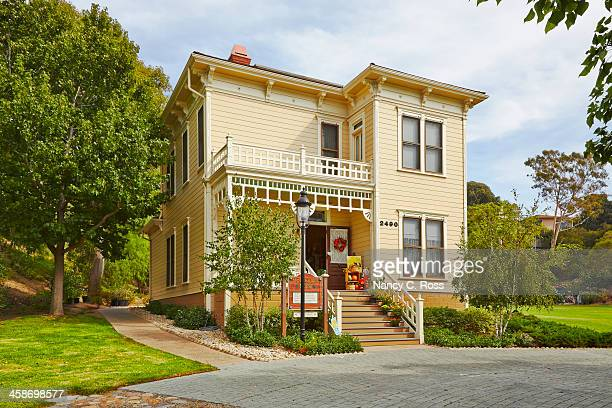 san diego old town mcconaughy house, heritage park - old town san diego stock pictures, royalty-free photos & images