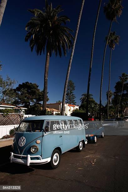 old VW bus in Ocean Beach
