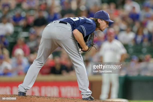 San Diego Padres Pitcher Matt Strahm comes on in relief during the game between the San Diego Padres and Texas Rangers on June 26 2018 at Globe Life...