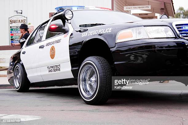 san diego police car low rider - old town san diego stock pictures, royalty-free photos & images