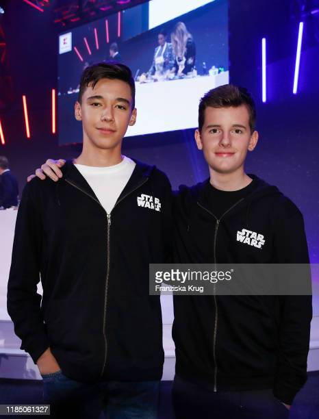 San Diego Pooth and Fayn Neven du Mont during the start of the ad campaign Das Gute in Dir by Kaufland at Gasometer on November 27 2019 in Berlin...