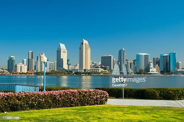 san diego skyline and park - south stock pictures, royalty-free photos & images