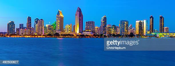 san diego skyline, california, usa - water's edge stock pictures, royalty-free photos & images