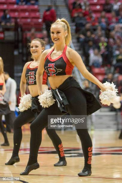 San Diego State University Aztecs dance team during the game between the San Jose State University Spartans and the San Diego State University Aztecs...