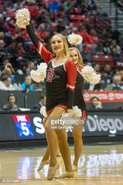 San Diego State University Aztecs dance team during the game between the Fresno State University Bulldogs and the San Diego State University Aztecs...