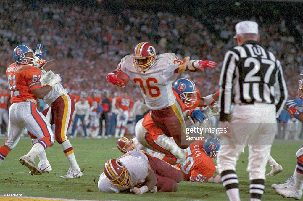 Timmy Smith Leaping Into End Zone : News Photo