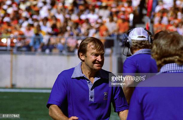 San Diego's Chargers coach Don Coryell walks toward the sideline looking frustrated