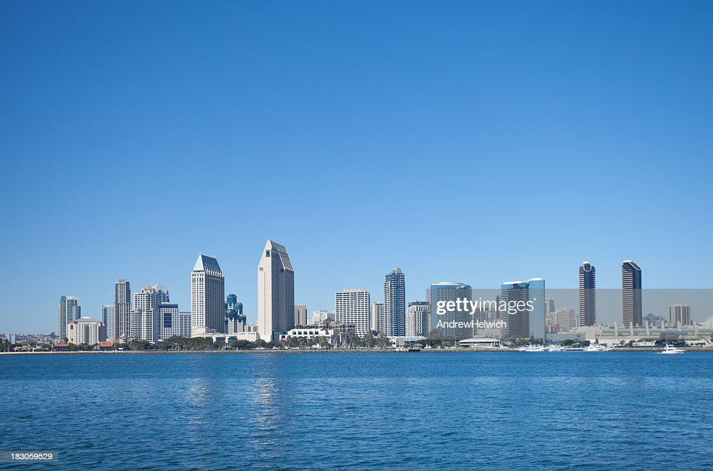 San Diegos Downtown Skyline On A Clear Day Stock Photo