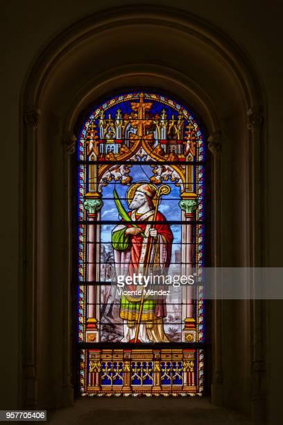 San Eugenio - Vidriera de la Iglesia de San Jerónimo el Real (Los Jerónimos)