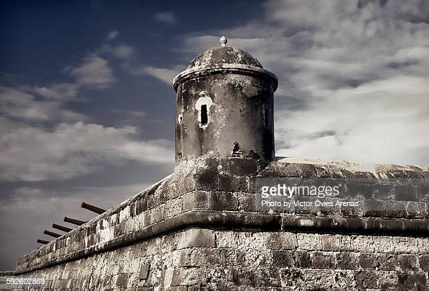 san felipe fortress in cartagena - victor ovies fotografías e imágenes de stock
