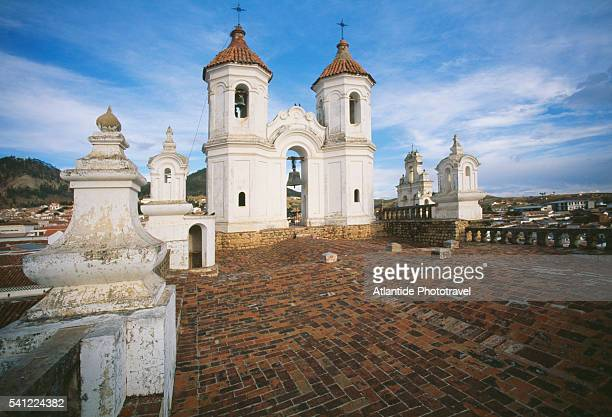 San Felipe Neri Church Roof and Bell Tower