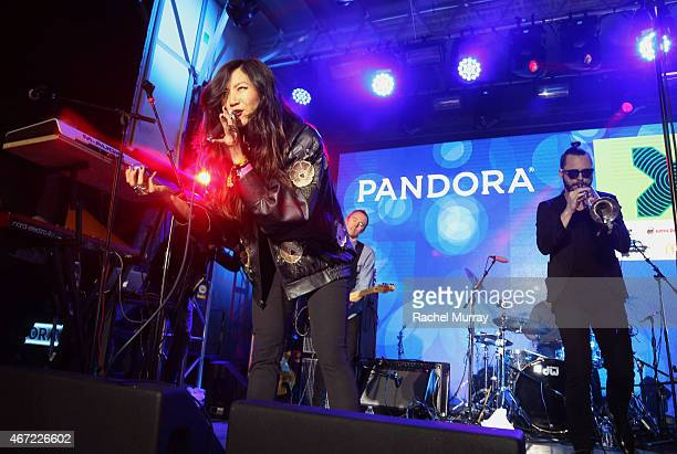 San Fermin onstage during the PANDORA Discovery Den SXSW on March 21 2015 in Austin Texas