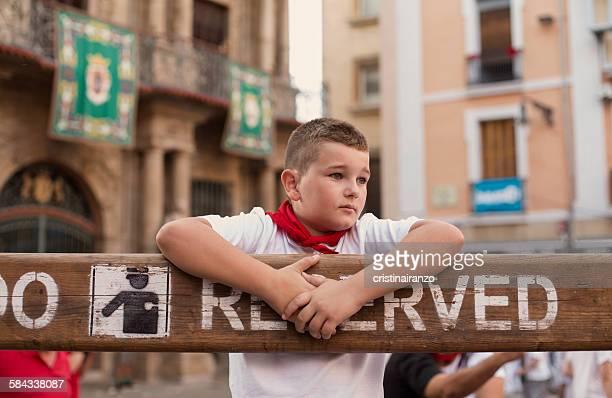 San Fermín, boy portrait