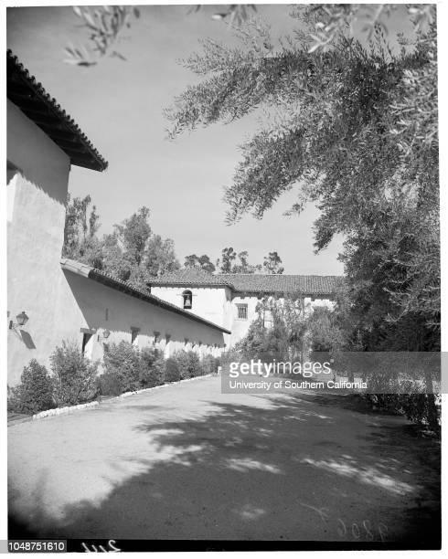 San Fernando Feature , 3 January 1953. Panora from above Sherman Oaks;Fred Weddington -- 72 years ;De la Osa Adobe at Encino;Ted Gibson ;James...