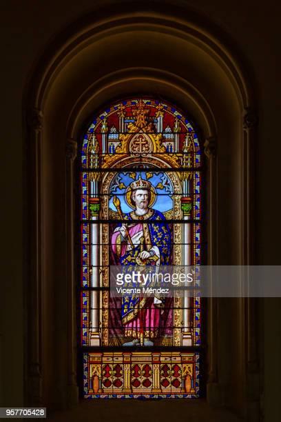San Fernando - Vidriera de la Iglesia de San Jerónimo el Real (Los Jerónimos)