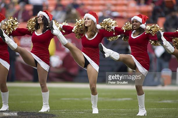 San Francisco 49er Cheerleaders showing the Christmas spirit during a game against the Arizona Cardinals at Monster Park in San Francisco California...