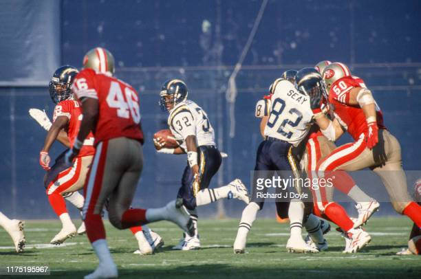 San Francisco 49ers 38 vs San Diego Chargers 15 at Jack Murphy Stadium in San Diego California