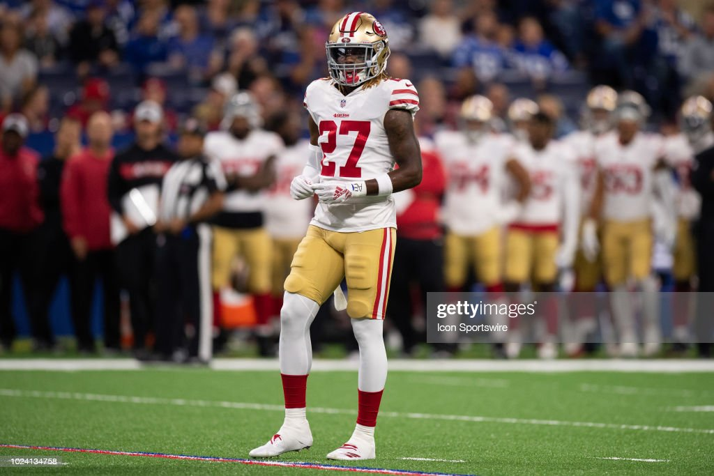 f9a36e54 San Francisco 49ers defensive back Adrian Colbert lines up before ...
