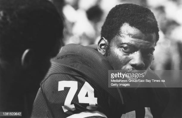 San Francisco 49ers defensive end Fred Dean is pictured on the sidelines of Candlestick Park in this undated photo.