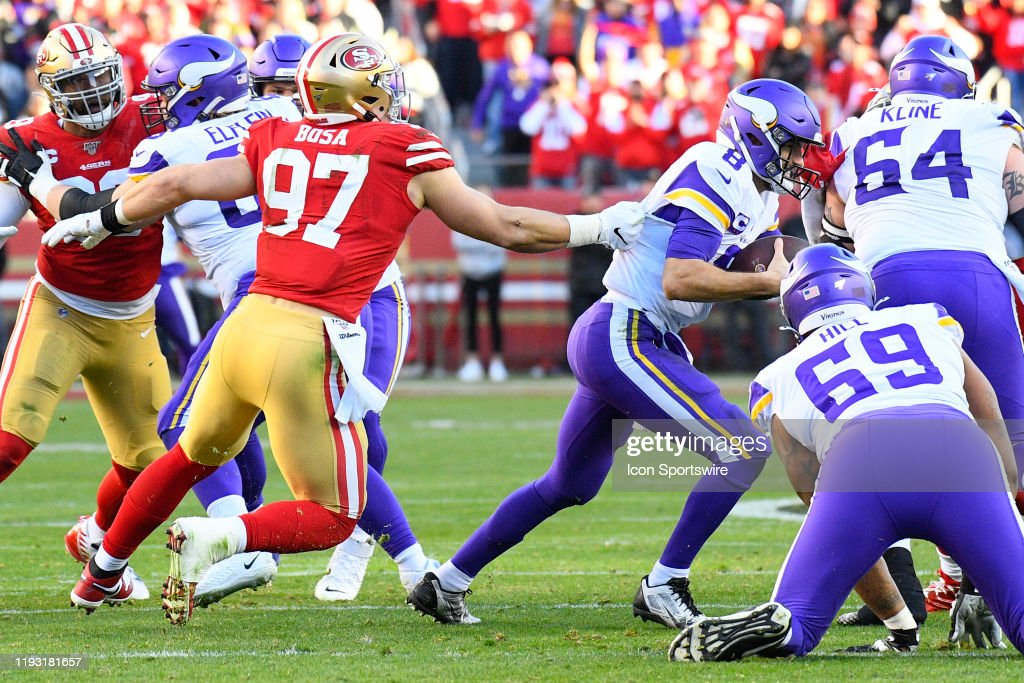 NFL: JAN 11 NFC Divisional Playoff - Vikings at 49ers : News Photo