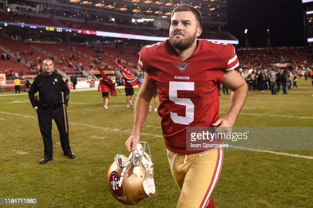 San Francisco 49ers Place Kicker Chase McLaughlin after the NFL game between the Green Bay Packers and San Francisco 49ers at Levi's Stadium on...