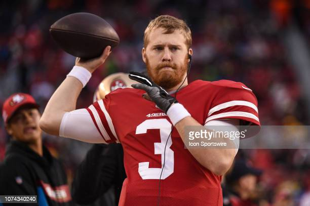 San Francisco 49ers Quarterback CJ Beathard during the NFL game between the Seattle Seahawks and the San Francisco 49ers on December 16 2018 at...
